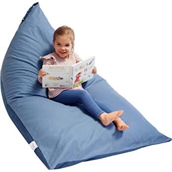 """Stuffed Animal Bean Bag Storage """"Stuffie Seat"""" - Designer Bean Bag - Stuffed Animal Storage Bean Bag Chair for Kids, Teens and Adults   Extra Large   100% Cotton Premium Canvas Cover (Blue Denim)"""