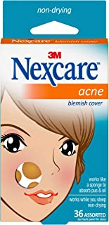 Nexcare Acne Cover, Invisible, Hydrocolloid Technology, Non-Drying, 36 count