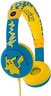 OTL On-Ear Junior Headphone - Pokemon Pikachu Face Children's Headphones - Portable Headset Volume Limiting Kids Headphone...