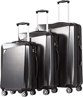 Luggage 3 Piece Sets PC+ABS Spinner Suitcase 20 inch 24 inch 28 inch