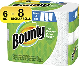 Bounty Select-A-Size Paper Towels, White, 6 Count