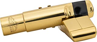 EastRock Jazz Alto Sax Professional Mouthpiece Gold Plated Metal Saxophone Mouthpiece with Mouthpiece Pads #6