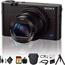 Sony Cyber-Shot DSC-RX100 IV Camera DSCRX100M4/B with Soft Bag, Tripod, Additional Battery, 64GB Memory Card, Card Reader,...