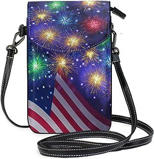 ZZKKO Mini-Umhängetasche/Handtasche für Damen, amerikanische Flagge, für Alltag, Reisen, Wandern, Camping