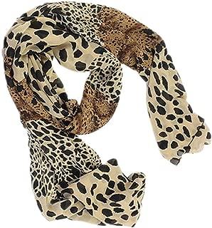 Bullidea Silk Scarf Women's Leopard Printing Decoration Chiffon Scarf Beach Ultra-thin Long Soft Wrap Scarf Shawl Scarf Scarves