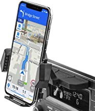 Sturdy CD Slot Phone Mount with One Hand Operation Design, APPS2Car Hands-Free Car Phone Holder Universally Compatible W/All iPhone & Android Cell Phones, for Smartphone, Mobile