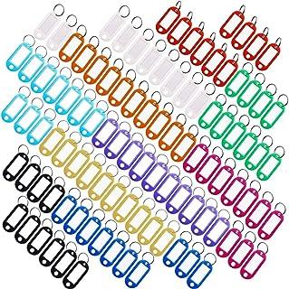 f646469378 Porte Cles Etiquette, Yuccer Porte-clés avec étiquettes Etiquette Porte Nom  Etiquette Clef Plastique