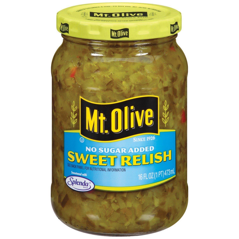 Mt. Olive Max 89% OFF No Sugar Added 16 Oz Relish Nashville-Davidson Mall Sweet