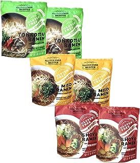 Gluten Free Japanese Ramen - Tonkotsu, Shoyu, Miso Variety 6pk