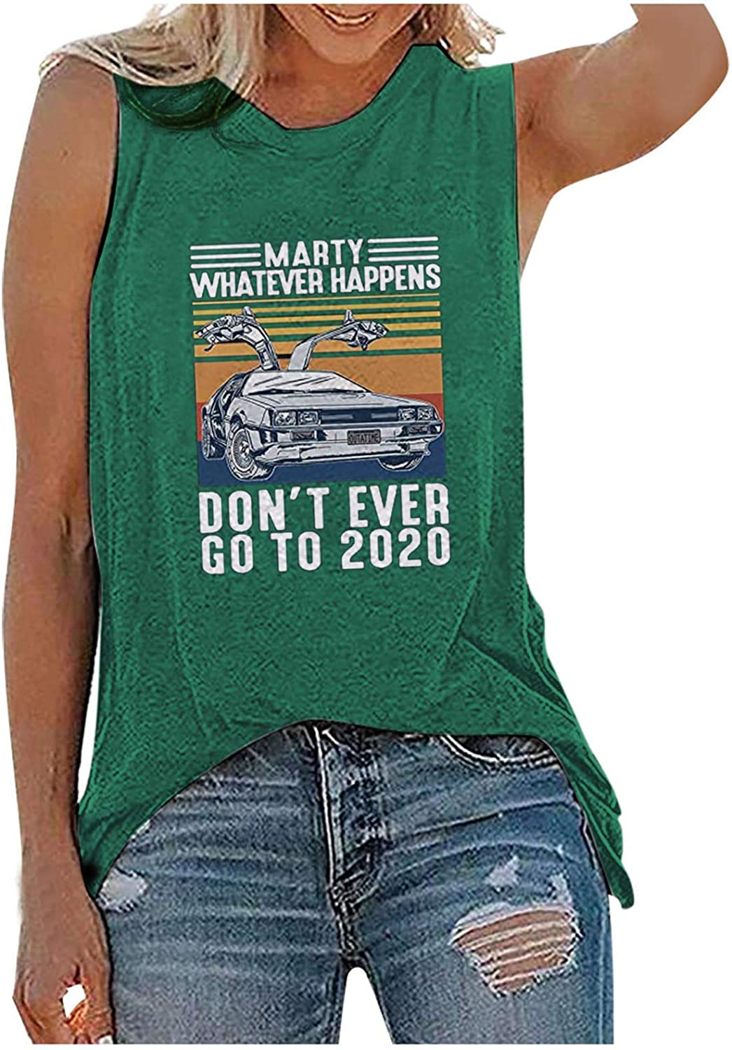 Paguaki Tank Tops for Women,Summer Printing Tunic Blouse Tops Tees O-Neck Sleeveless Vest Tank Shirt Fouth of July