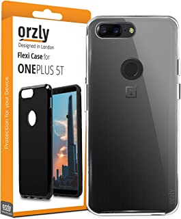 Orzly OnePlus 5T Case, FlexiCase for One Plus 5T - 100% Transparent (Slim-Fit) Protective (Anti-Scratch) Flexible Skin Case Cover with Fingerprint Sensor Access for New 2017 Oneplus 5t Smartphone