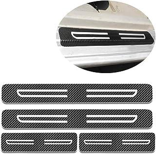 Per Terra Tiida Maxima Qashqai Sylphy Sunny Battitacco Soglia Porta Auto,Carbon Fiber Sticker adesivi Styling,Esterno Batticalcagno Prevenire lusura Previene graffi 4Pezzi Blu