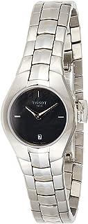 ساعة بشكل دائري للنساء من الستانلس ستيل من تيسوت - T096.009.11.121.00