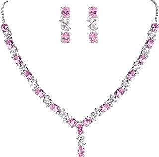 Best pink cubic zirconia necklace Reviews