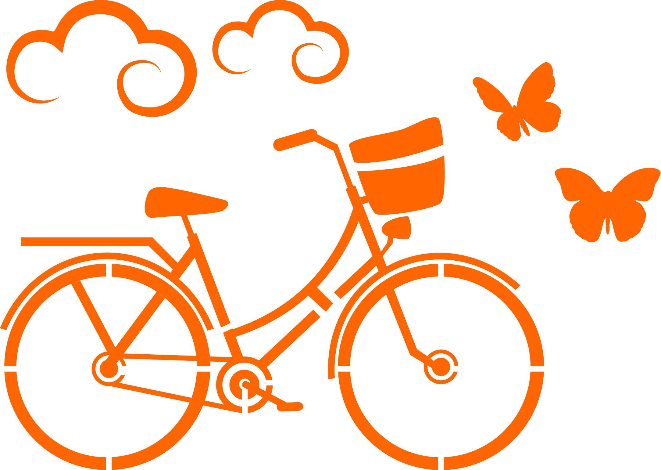 Stencil Plantilla para DIY proyectos, bicicleta diseño a5 148 x 210 mm: Amazon.es: Oficina y papelería