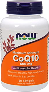 Now Foods CoQ10 600mg with Vitamin E, 60 Softgel