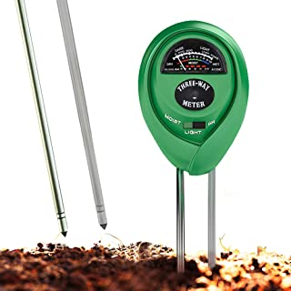 Soil pH Meter, 3-in-1 Soil Test Kit For Moisture, Light & pH, A Must Have For Home And Garden, Lawn, Farm, Plants, Herbs &...