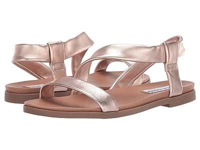 Steve Madden Dessie Flat Sandals (Rose Gold) Women