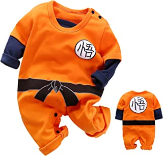Cute Goku Newborn Baby Boys Girls Clothes Infant Toddler Long Sleeve Romper Jumpsuit Outfits