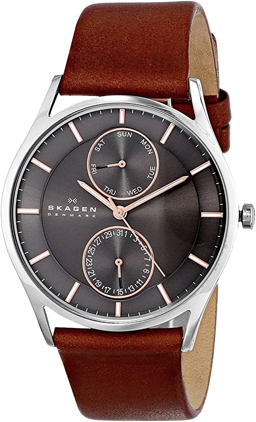 SKW6086 Silver Brown Leather