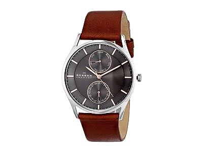 Skagen Holst Multi-Function Watch (SKW6086 Silver Brown Leather) Analog Watches