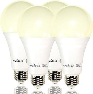 AmeriLuck 2700K Soft White 3-Way LED Light Bulb A21, 50-100-150W Equivalent,..
