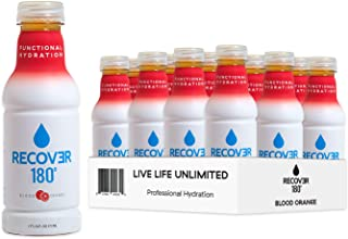 Recover 180 Hydration Drink for Functional Performance, Sports and Everyday Beverage, 3X More Electrolytes, 16 Ounce (12 P...