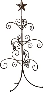 Red Co. 22 inch Bronze Wire Ornament Stand, Metal Mini Regent Display Tree and Jewelry Organizer with 3Tiers of Branches