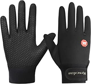Winter Running Gloves Touchscreen Thermal Gloves Men Women Winter Windproof & Waterproof Gloves Snow Warm Gloves Liners for Running, Cycling, Driving Skiing Outdoor Sports