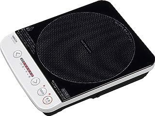 [山善] 卓上 IHクッキングヒーター IH調理器 1000W ホワイト YEL-S100(W) [メーカー保証1年]
