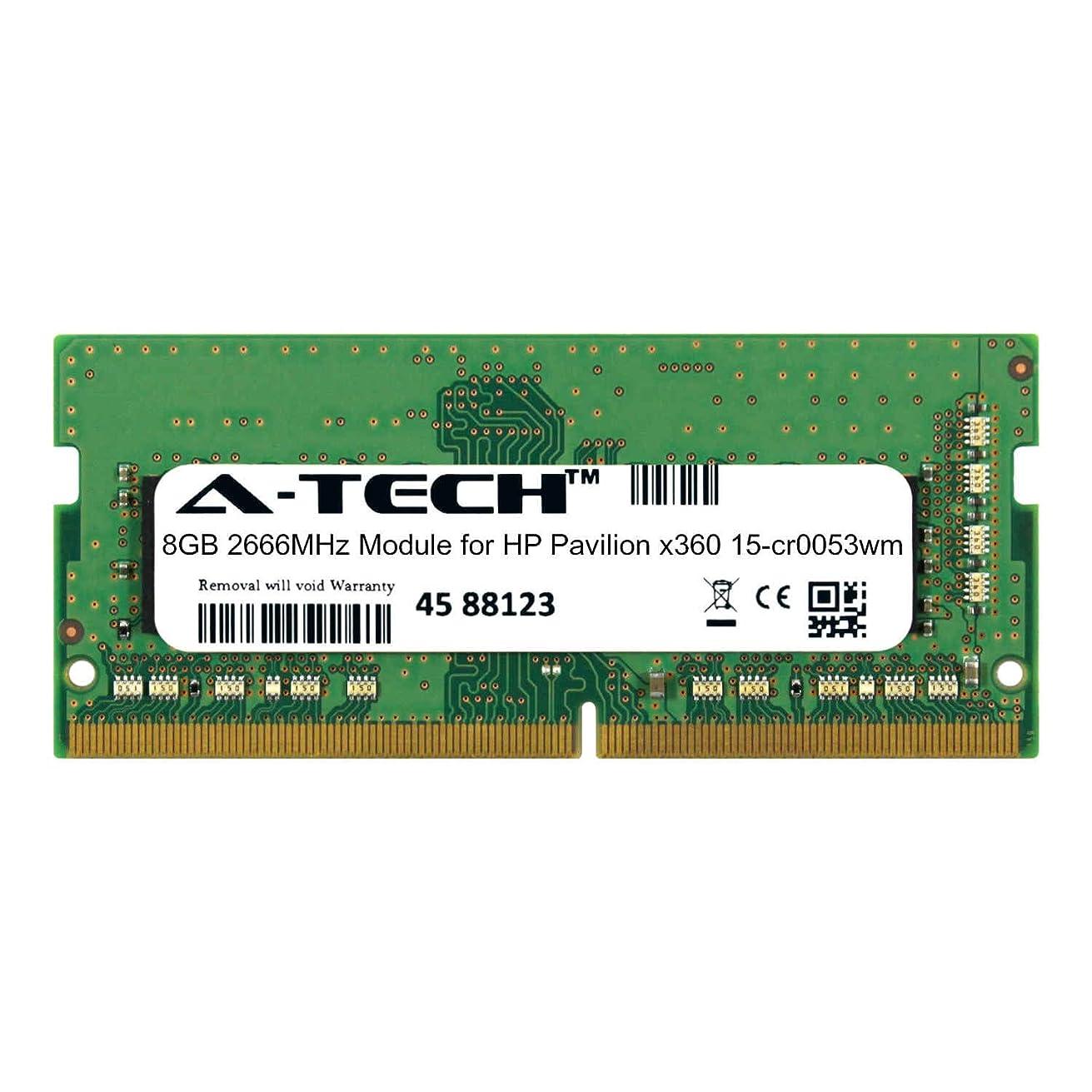 A-Tech 8GB Module for HP Pavilion x360 15-cr0053wm Laptop & Notebook Compatible DDR4 2666Mhz Memory Ram (ATMS312865A25978X1)