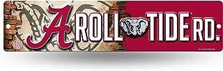 NCAA Rico Industries 16-Inch Plastic Street Sign Décor, Alabama Crimson Tide Team Color,..