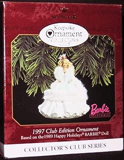 Happy Holidays Barbie 2nd in Series 1997 Hallmark Ornament QXC5162