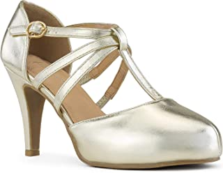 RF ROOM OF FASHION Womens Pumps Shoes Gold Size: 6