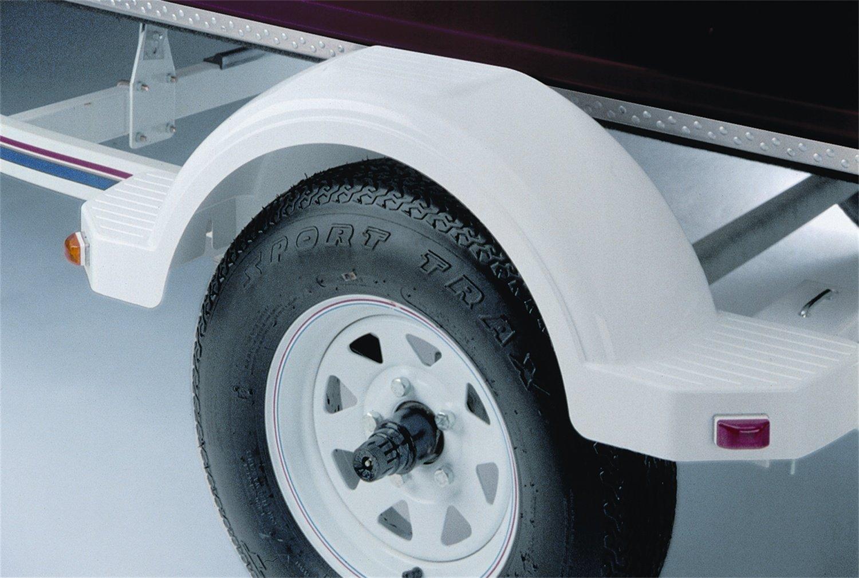 """Fulton 008574 Plastic Trailer Fender for Single 14"""" Tire - White"""