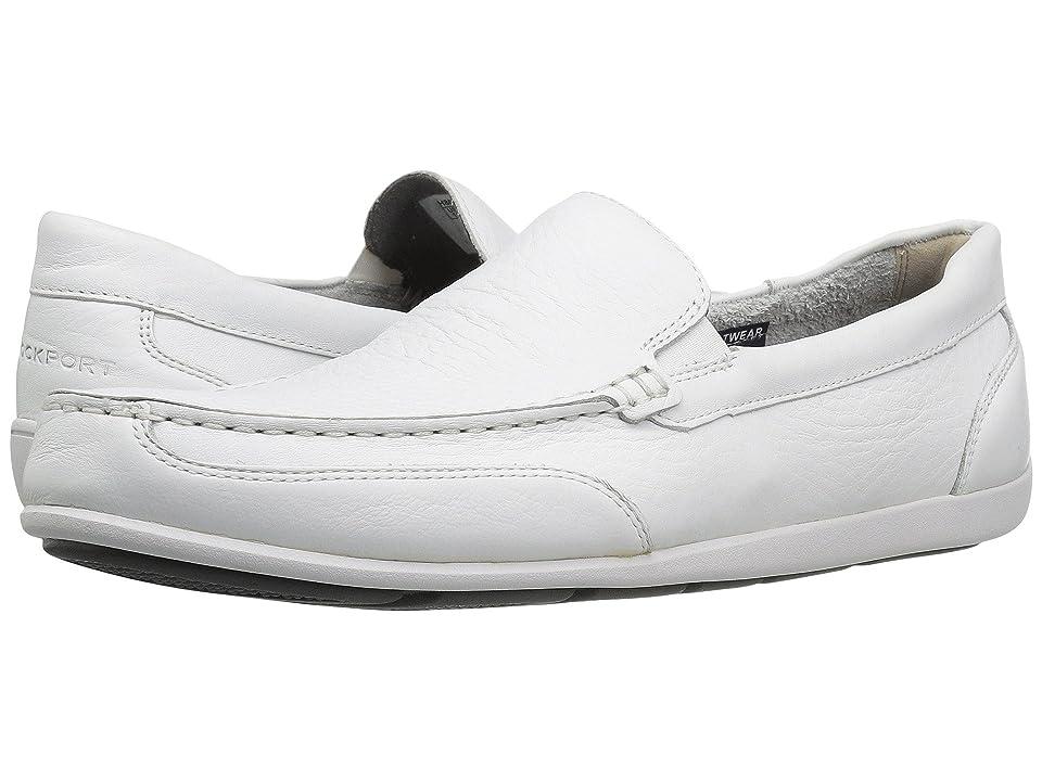 Rockport Bennett Lane 4 Venetian (White Leather) Men
