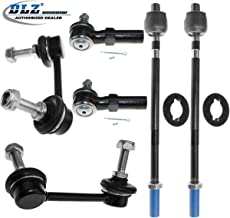 DLZ 6 Pcs Front Suspension Kit-2 Inner 2 Outer Tie Rod End 2 Sway Bar Compatible with 2000 2001 I30 2002 2003 2004 I35 2000 2001 2002 2003 Maxima K90432 K90431 ES3438 EV458