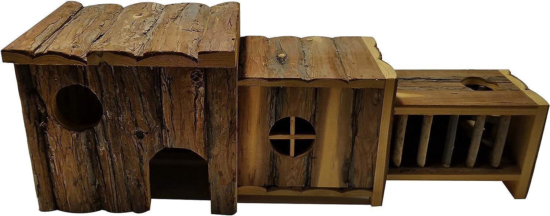 Dehner Chambers Rodent House Approx. 61 x 20 x 22 cm Natural Fir Wood
