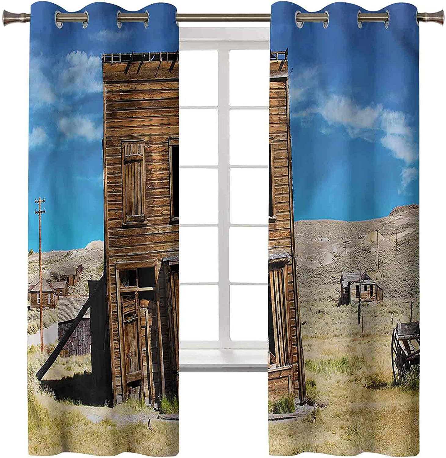 Inexpensive Blackout Curtains Window Treatment Rustic Tim Insulated Thermal Kansas City Mall