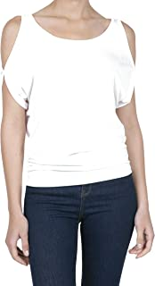 iliad USA Women's Short Sleeve Cold Shoulder Casual Tops Blouse T Shirts