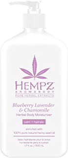 Blueberry Lavender & Chamomile Herbal Body Moisturizer, 17 Fl Oz, Pack of 1