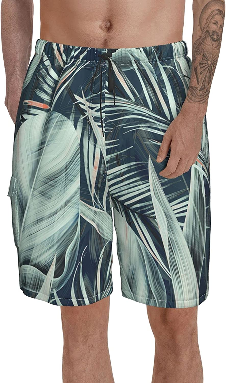 OP02SD3 Men's Swim Trunks Quick Dry Shorts Beach Surf Tropics Printed Board Shorts Swimwear