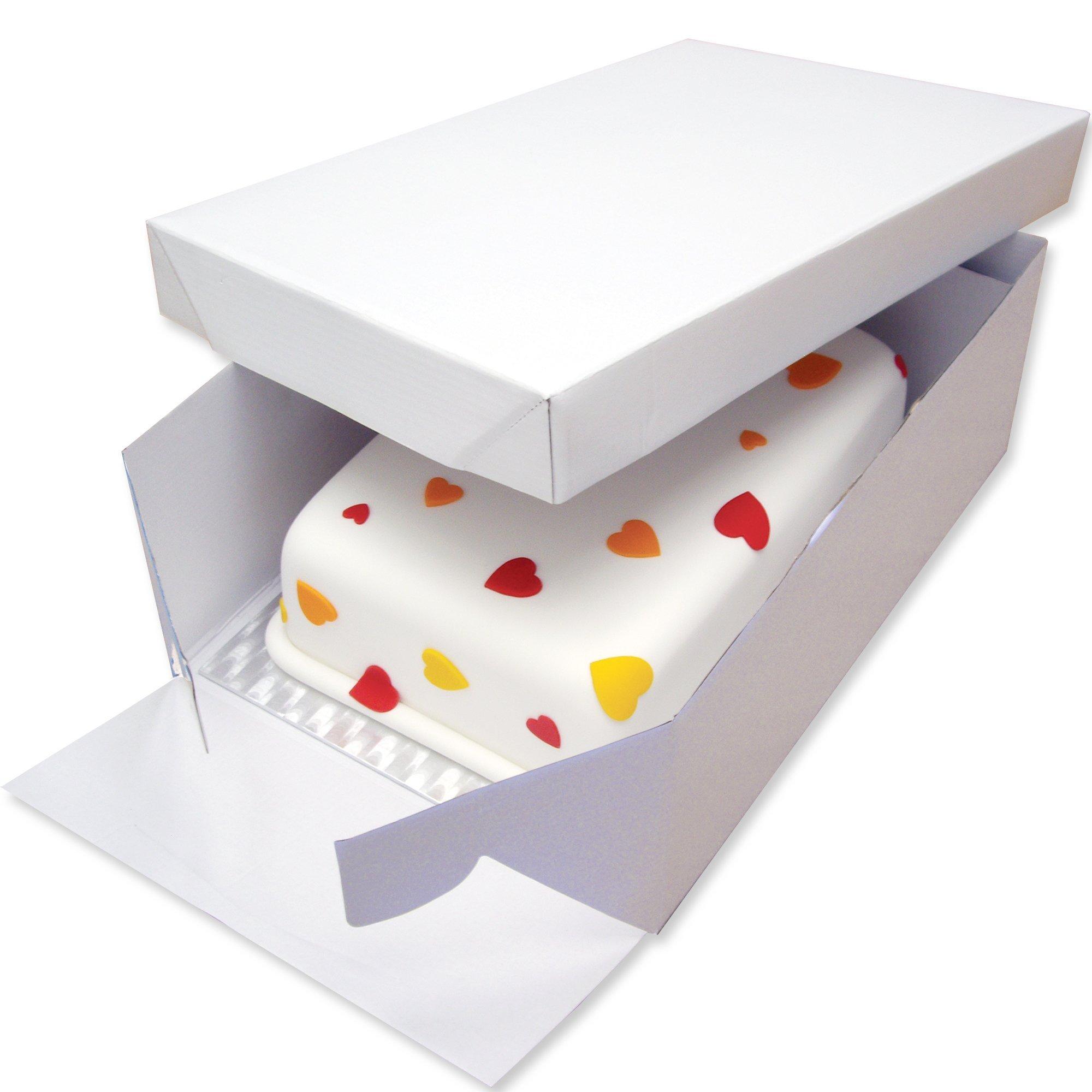 PME Tarjeta de Pastel Alargada y Caja para Pastel 17 x 13 Pulgadas ...