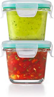 OXO Good Grips Smart Seal Container 4 Piece Mini Square Glass Set