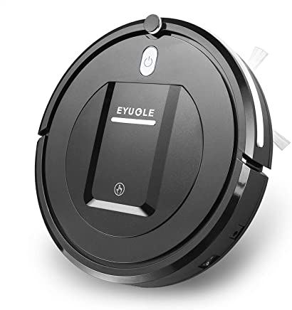 EYUGLE Robotic Vacuum Cleaner, Robot Vacuum w/Slim Design, Higher Suction, Anti