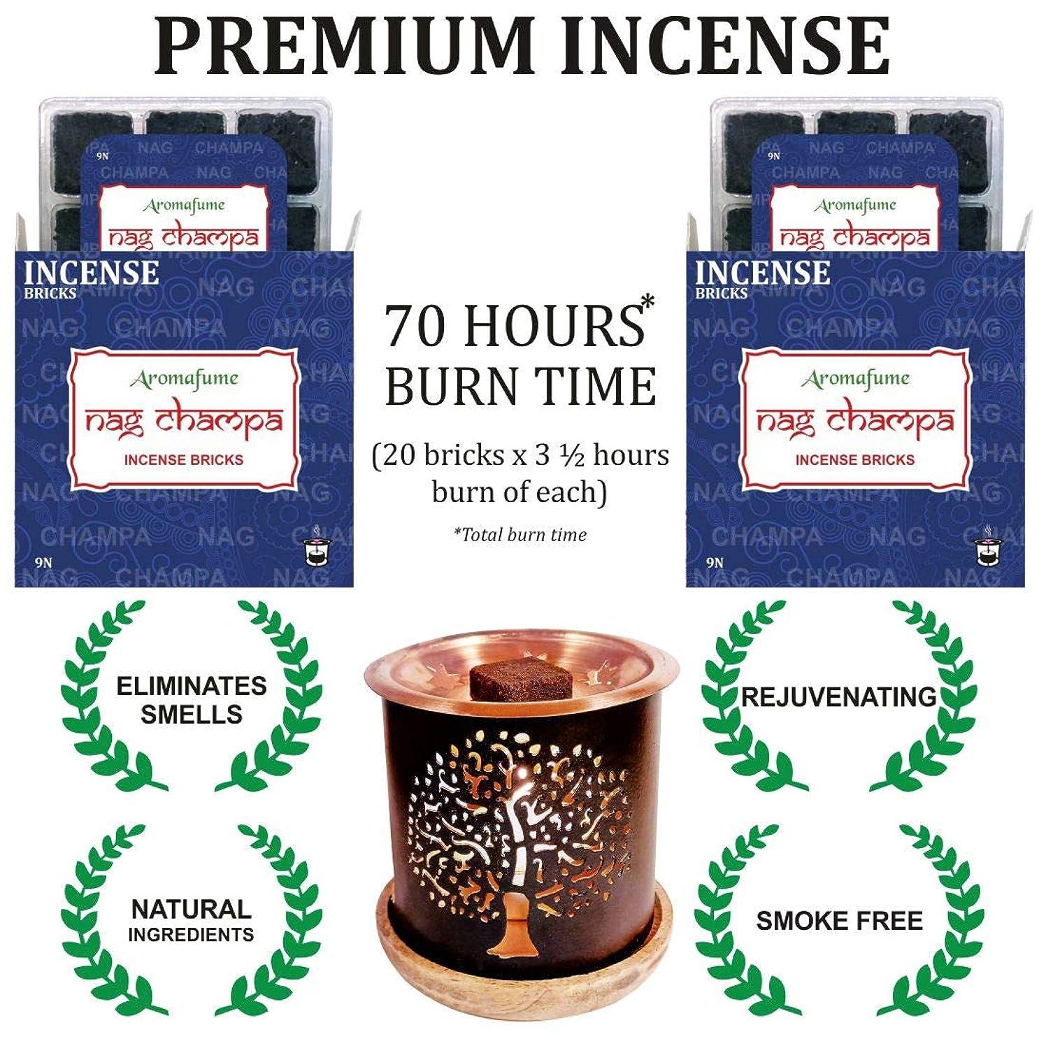 冊子有効化インレイaromafume Nag Champa Incense Bricks & Tree of Life Incense Burner