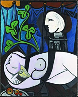 Pablo Picasso - Nude, Green Leaves and Bust, Size 12x16 inch, Canvas Art Print Wall décor