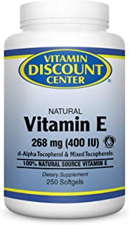 Vitamin Discount Center Vitamin E 400 IU, 250 Softgels