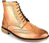 Silver Street Gerrard Tan Leather Formal Mens Brogue Boots