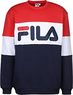 Fila Felpa Men Straight Blocked Crew Red 681255